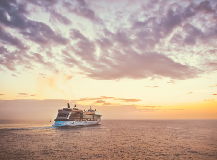 Cruise Ship in Sunset